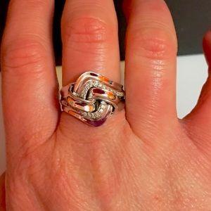 Jewelry - Genuine .20ctw Diamond 925 Ring